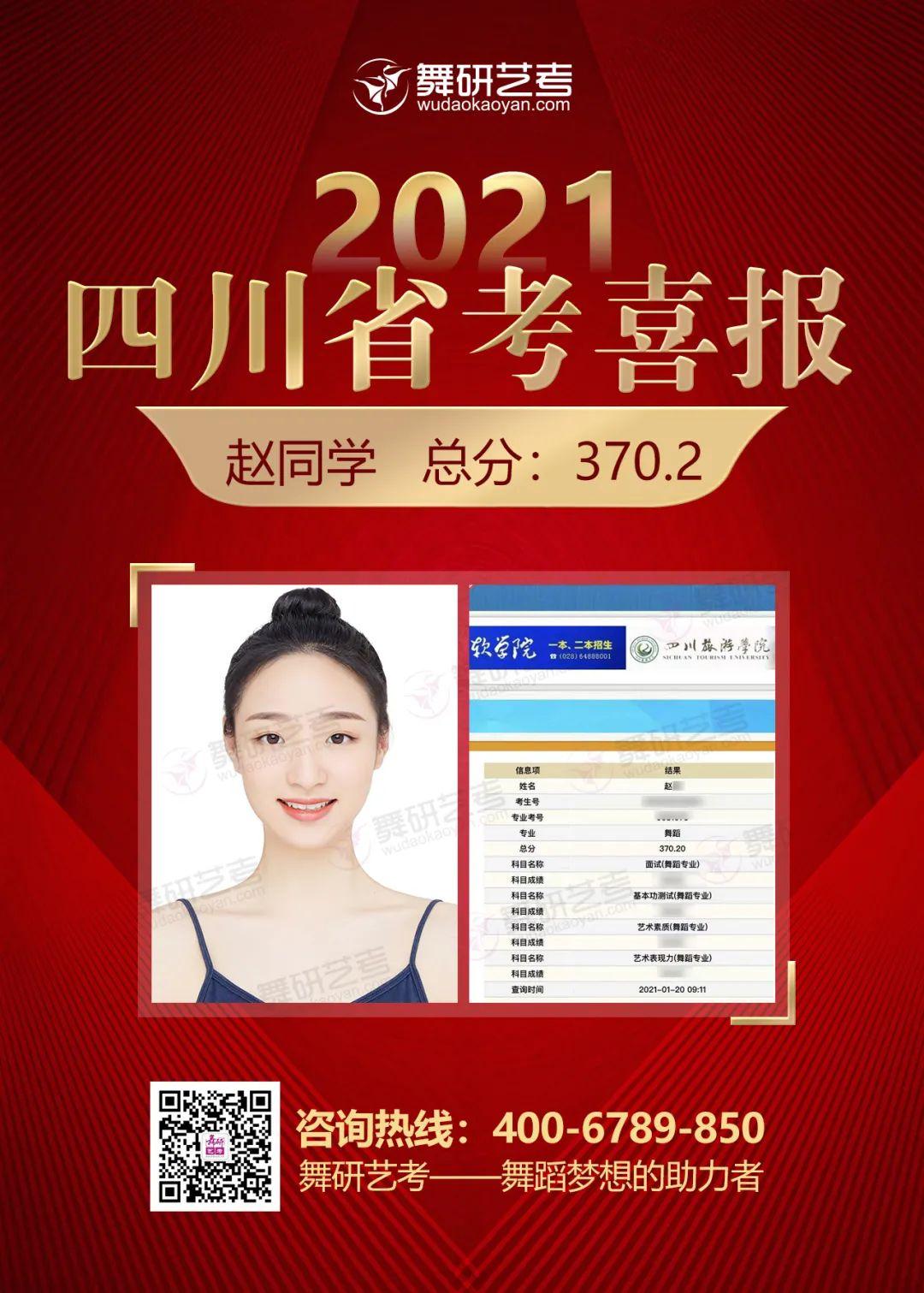 2021年四川舞蹈省考,舞研艺考再创辉煌!最高393.2分,预计包揽前三!全员均高分过线!