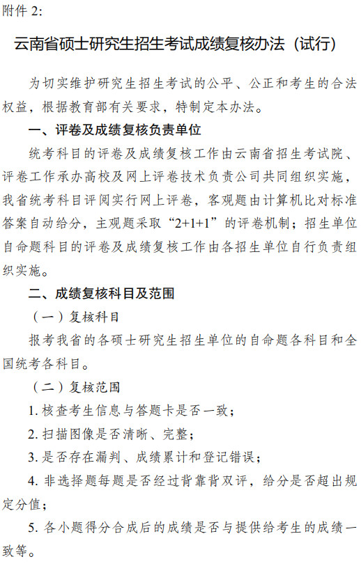 關于公布云南省2021年全國碩士研究生招生考試初試成績的通知